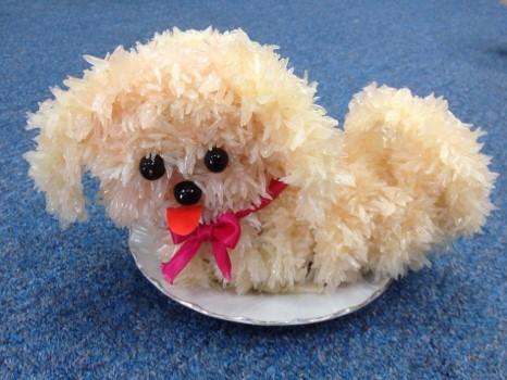 Cách làm chó bưởi bày mâm ngũ quả ngày lễ siêu đẹp và dễ thương