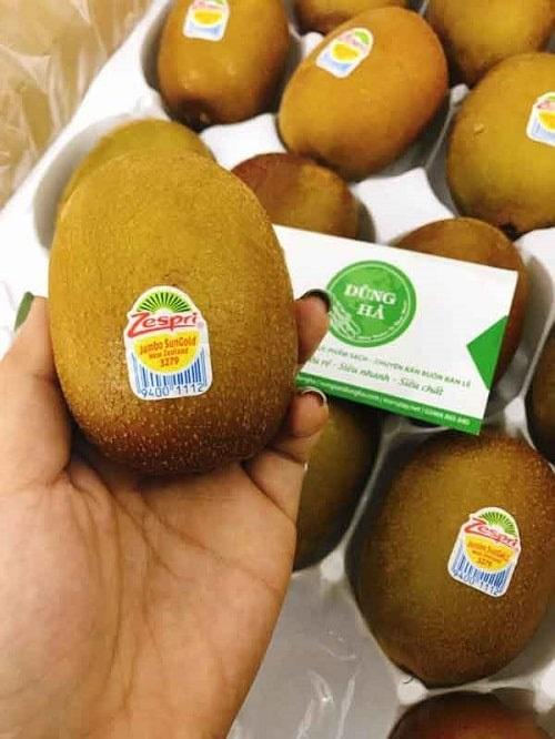 phân biệt kiwi trung quốc và kiwi new zealand nhập khẩu qua tem mác