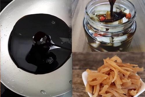 món ngon từ củ cải khô ngâm nước tương