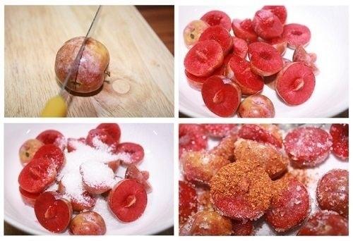 Mận dầm muối ớt - chảy nước miếng với món ăn vặt từ mận